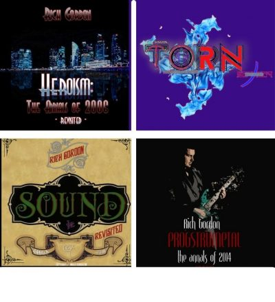 Rich's first four album covers